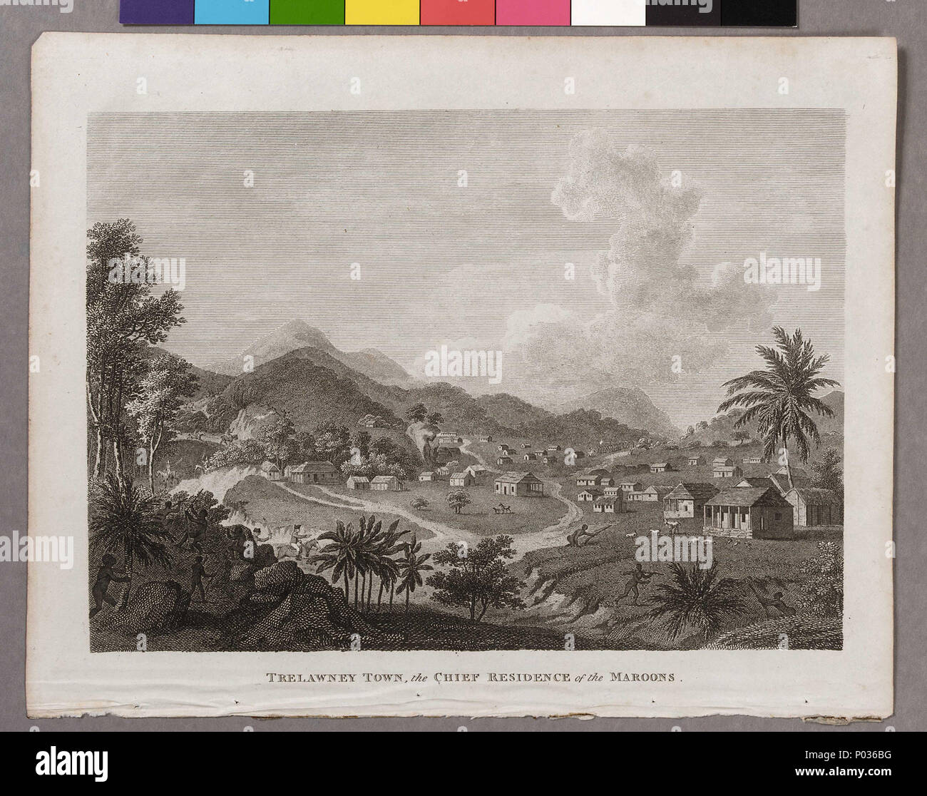 English: 'Trelawney Town, the Chief Residence of the Maroons