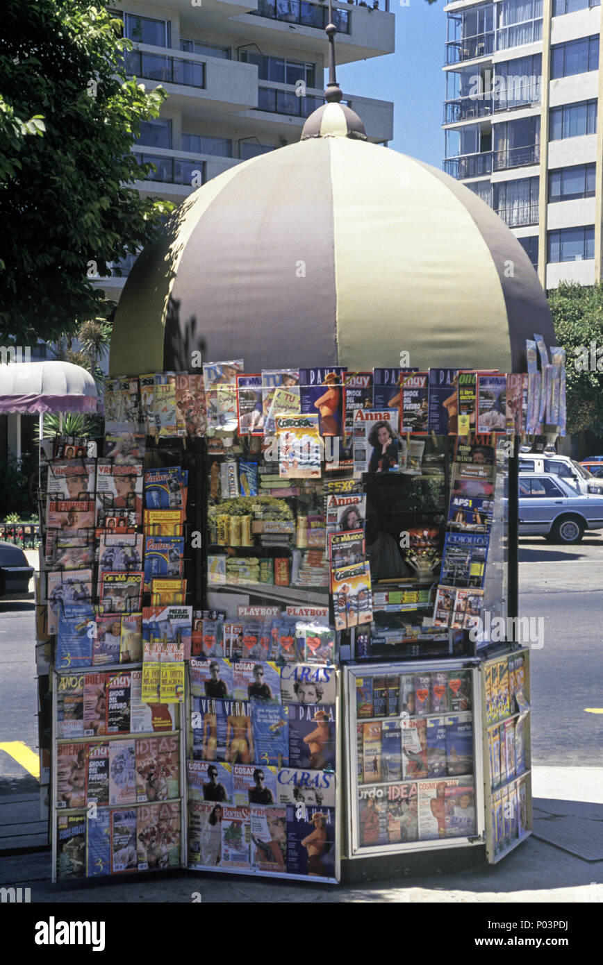 1992 HISTORICAL NEWS STAND DOWNTOWN SANTIAGO CHILE