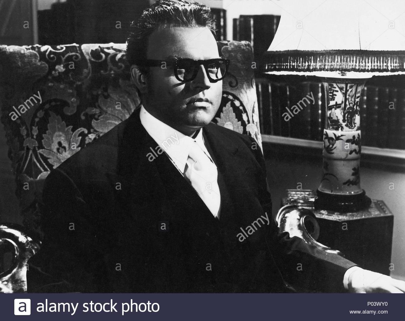 Original Film Title: TRENT'S LAST CASE.  English Title: TRENT'S LAST CASE.  Film Director: HERBERT WILCOX.  Year: 1952.  Stars: ORSON WELLES. Credit: BRITISH LION / Album - Stock Image