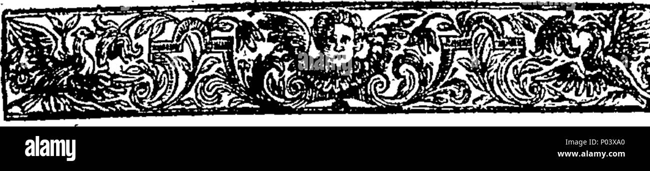 . English: Fleuron from book: A compleat treatise of moral and intellectual virtues: wherein their nature is fully explained, and their usefulness proved, inasmuch as they regulate all the Branches of Life. Under the following Heads, viz. I. The Nature of Ethicks. II. Fortitude. III. Temperance. IV. Liberality. V. Magnificence. VI. Magnanimity. Vii. Meekness. Viii. The Three Conversable Virtues, viz. Comity, Veracity, and Urbanity. IX. Modesty. X. Taciturnity, or the Government of Speech. XI. Justice. XII. Intellectual Virtues. XIII. Art. XIV. Prudence. XV. Understanding, Science, and Wisdom.  Stock Photo