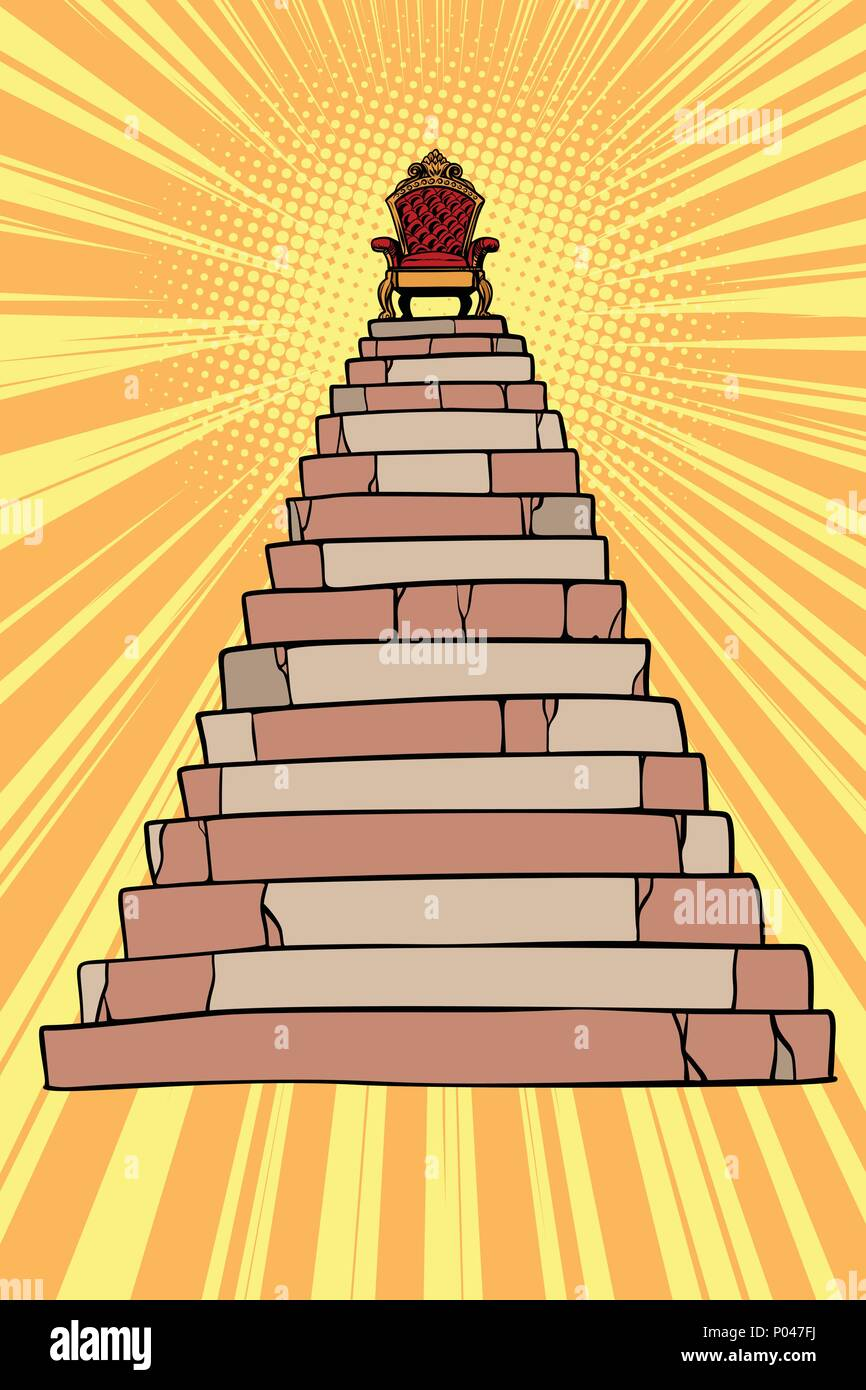 Throne On Top Of The Pyramid   Stock Vector