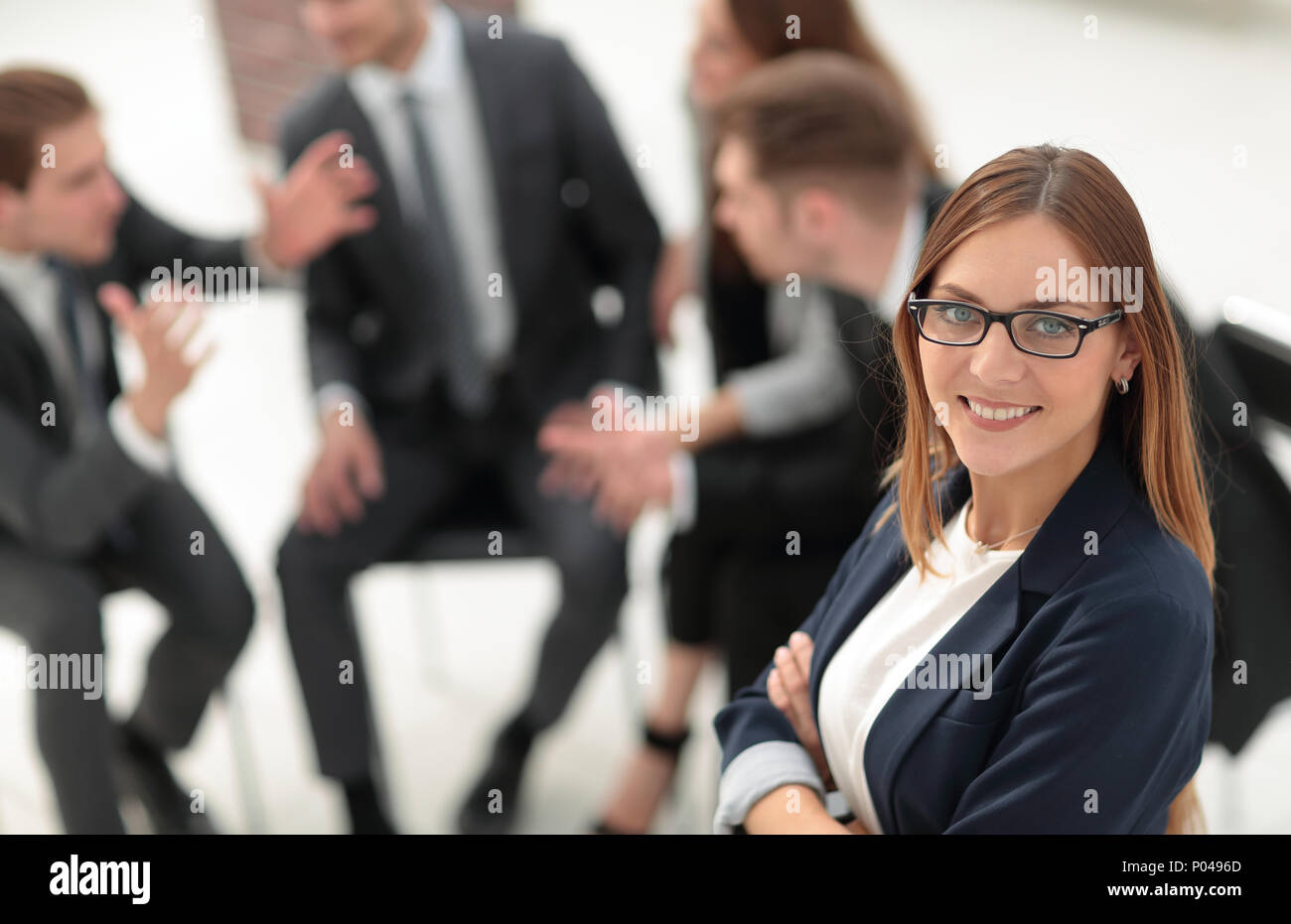 Business people conference and meeting in modern office - Stock Image