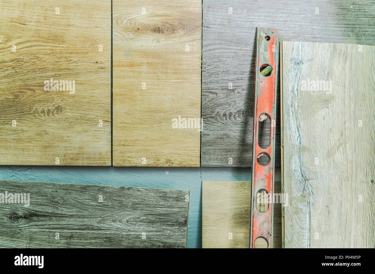 Wooden Like Ceramic Wall Tiles Installation Two Different Tiles And