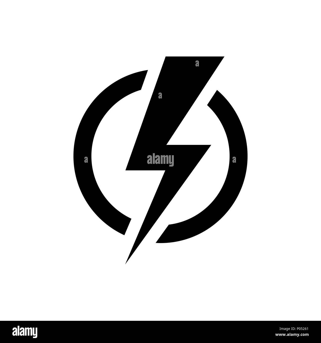 Lightning bolt icon. Electric power symbol Stock Vector Art ...