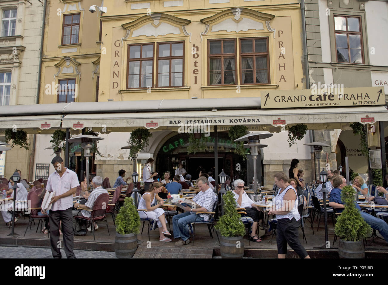 Cafe At The Grand Hotel Of Praha Prague In The Old City In Prague Czech Republic Stock Photo Alamy