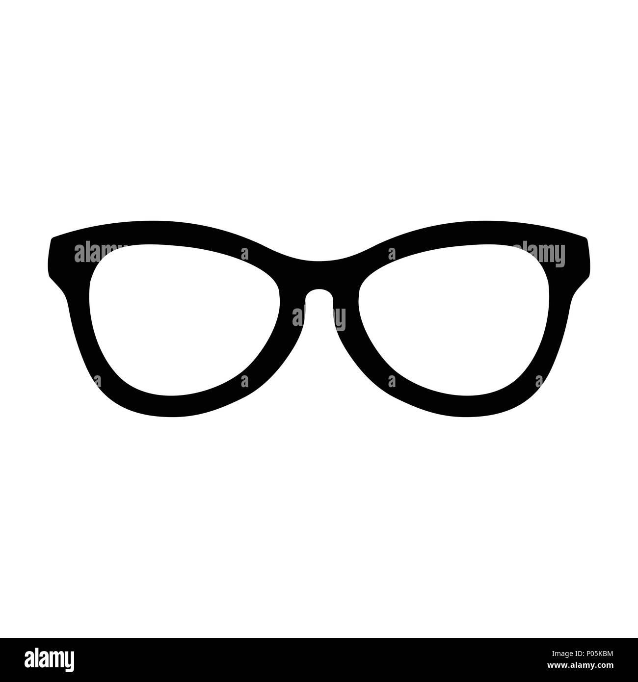 Simple Cool Glasses Vector Symbol Graphic Logo Design Stock Vector