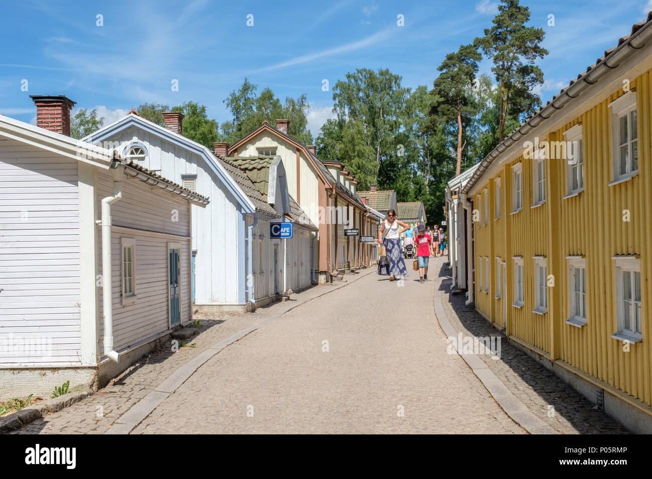 Miniature city in Astrid Lindgrens world. This is a popular theme park in Sweden based on the fairy tales and stories by Astrid Lindgren. - Stock Image