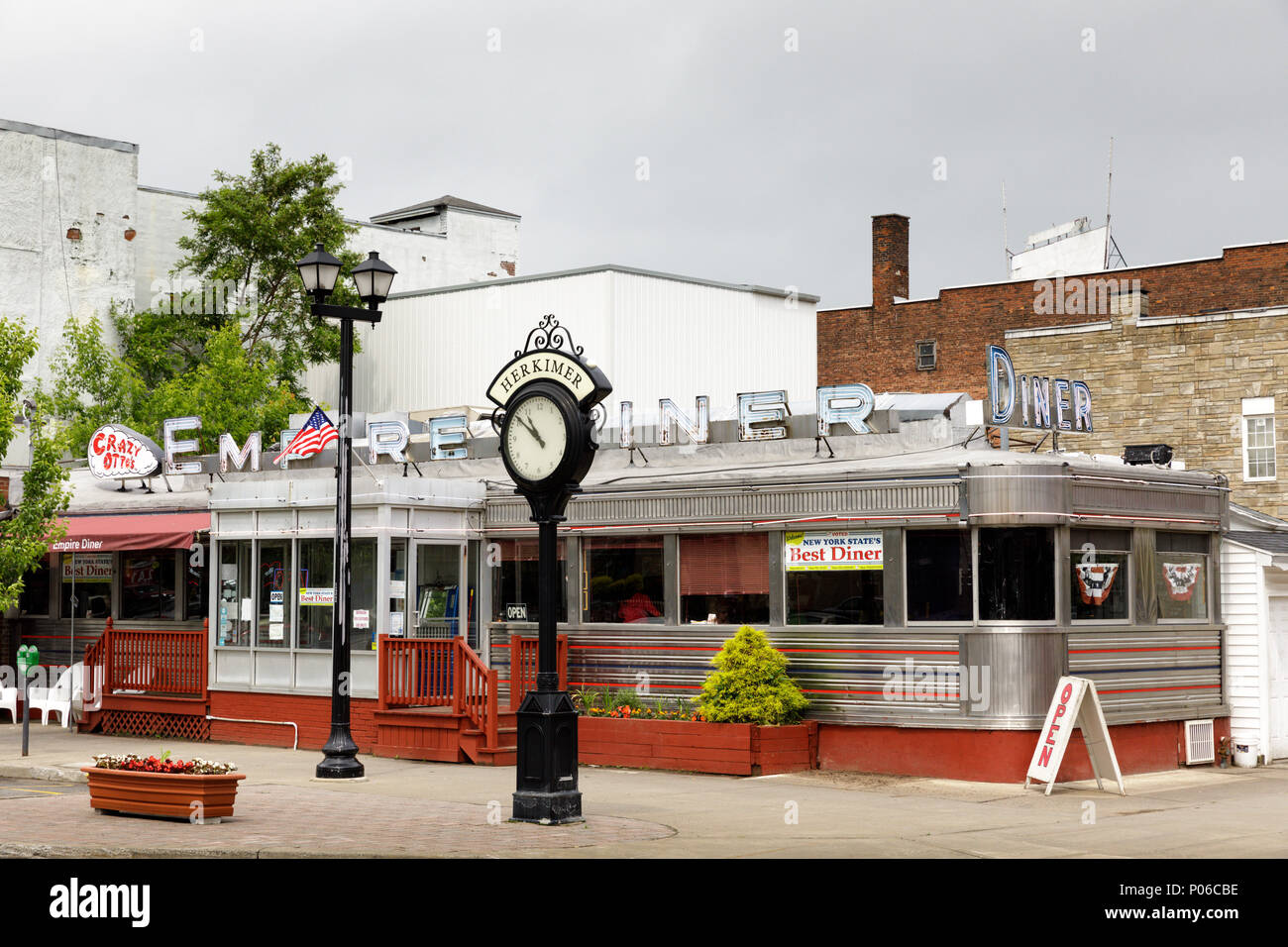 Herkimer, New York, USA – June 5, 2017: Crazy Otto's Empire Diner was voted Best Diner in New York State for 2017. - Stock Image
