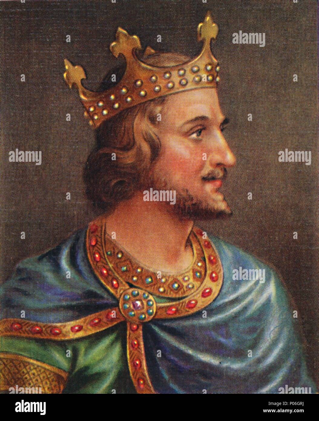 'Stephen', 1935. King Stephen (1096-1154). Stephen was king of England from 1135 until his death in 1154. From Kings & Queens of England - A Serie - Stock Image