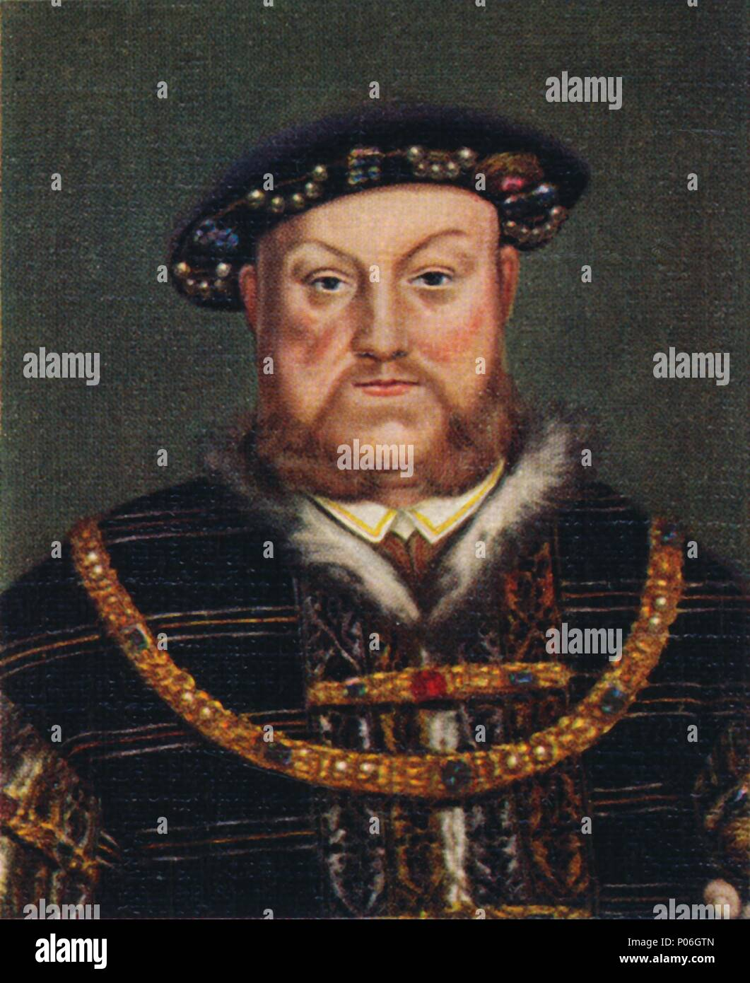 Henry VIII', 1935.  Henry (1491-1547) was King of England and Lord of Ireland (later King of Ireland) from 22 April 1509 until his death. He was the s - Stock Image