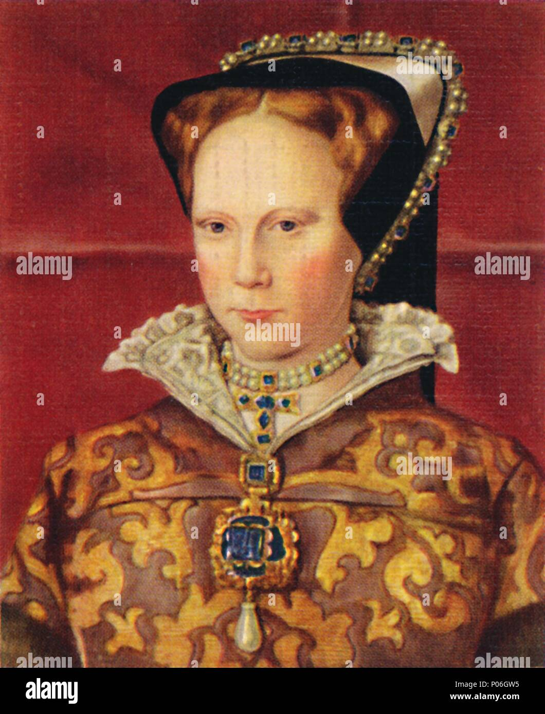 'Mary I', 1935.  Mary Tudor (1516-1558) was Queen of England and Queen of Ireland from 6 July 1553 (de jure) or 19 July 1553 (de facto) until her deat - Stock Image