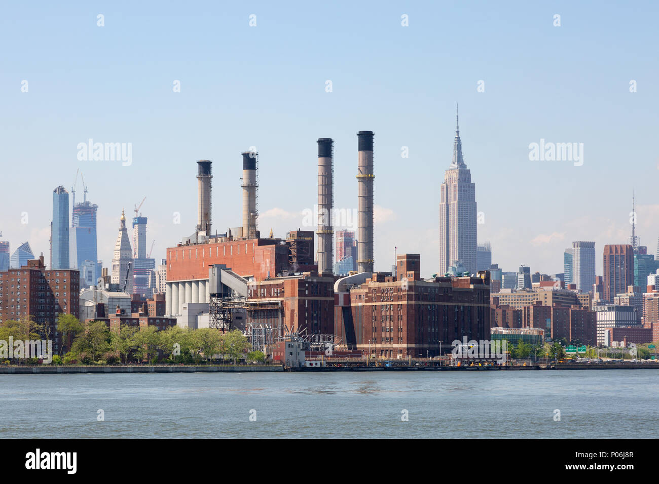 The Consolidated Edison Inc. plant on the East River, New York city United States of America - Stock Image