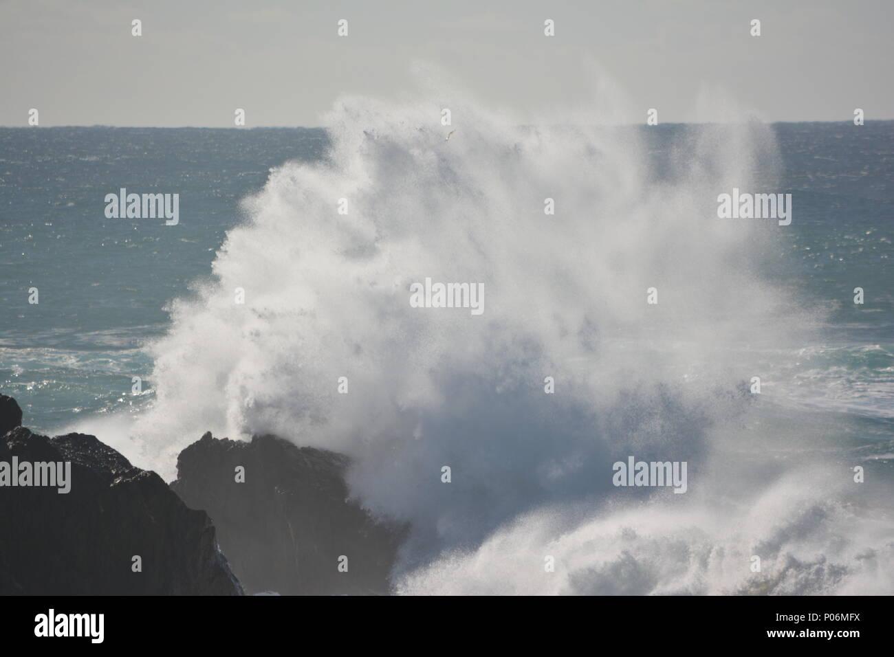 Wild surf at Sawtell - Stock Image