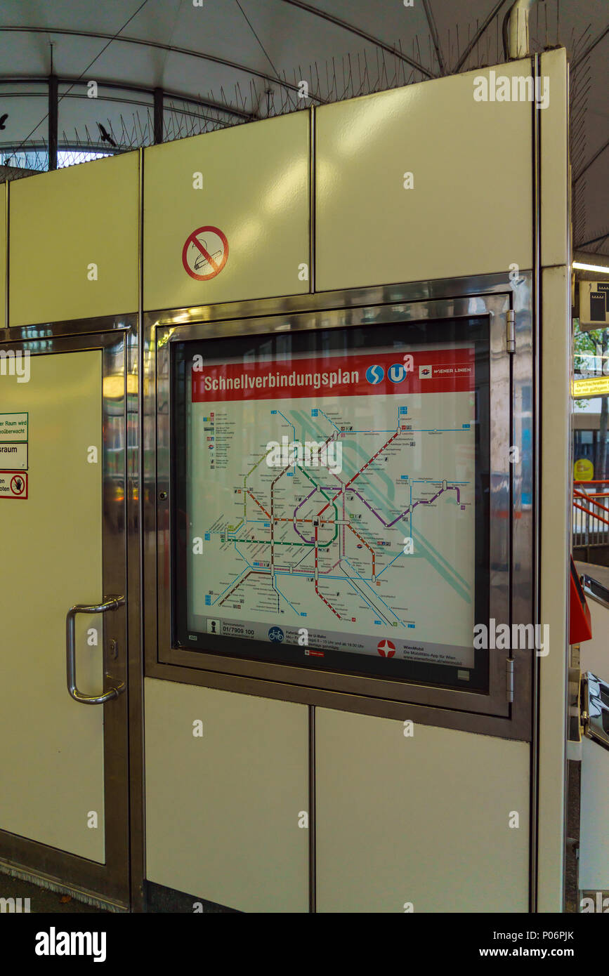Subway Map Vienna Austria.Vienna Austria October 22 2017 Map Of City Subway System Stock