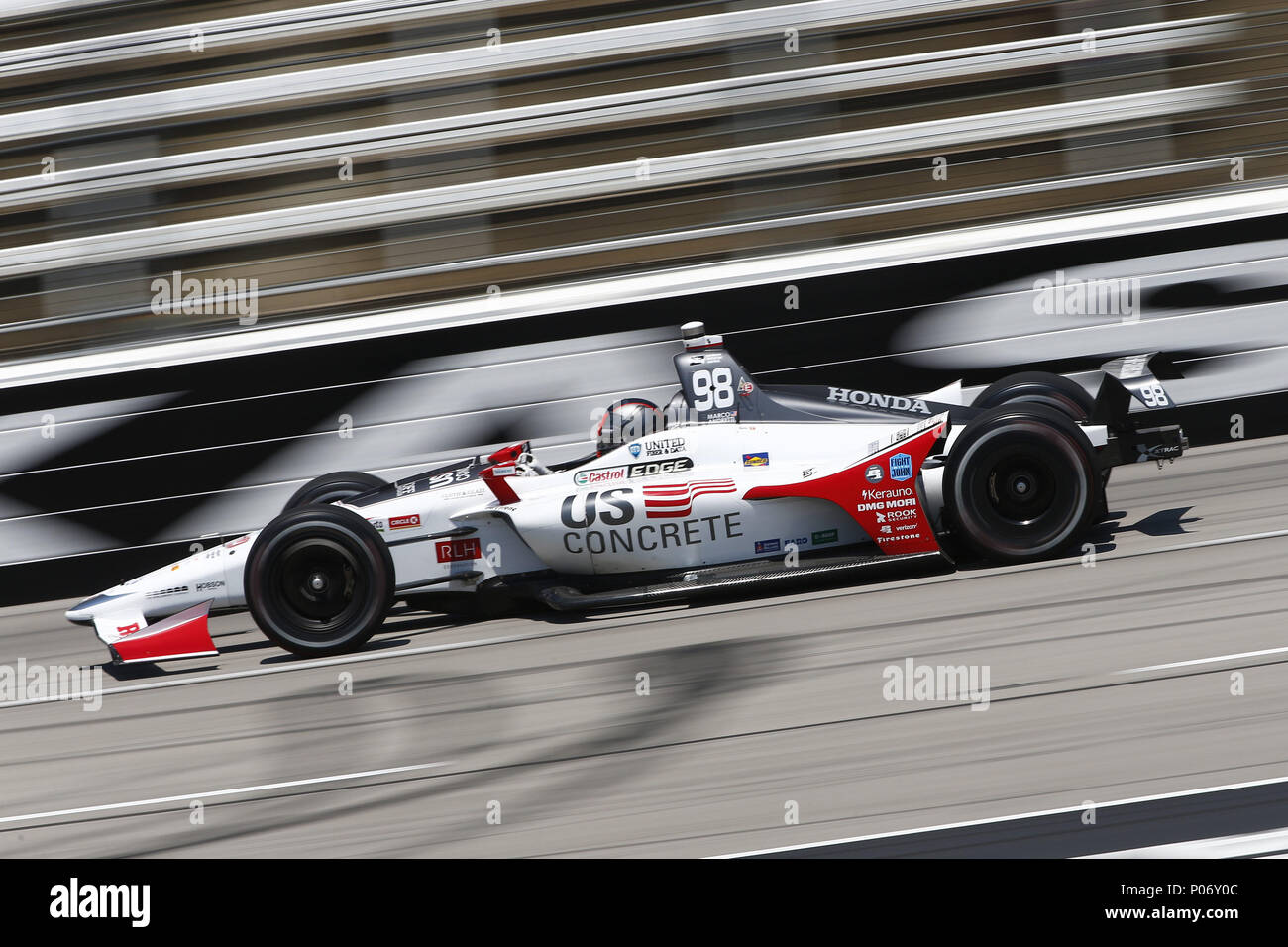 Fort Worth, Texas, USA. 8th June, 2018. MARCO ANDRETTI (98) of the ...