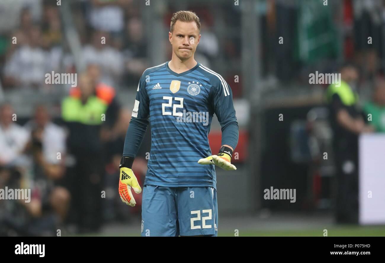 firo Football: Football: 08.06.2018 national team Test match: Germany - Saudi Arabia 2: 1 gesture, Marc-Andre ter Stegen   usage worldwide - Stock Image