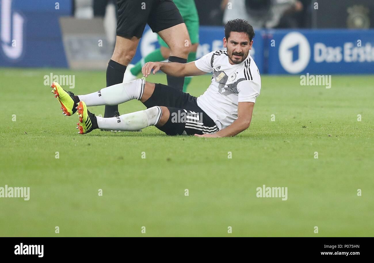firo Football: Football: 08.06.2018 National Team Test match: Germany - Saudi Arabia 2: 1 Disassociated am ground Ilkay Gundogan   usage worldwide - Stock Image