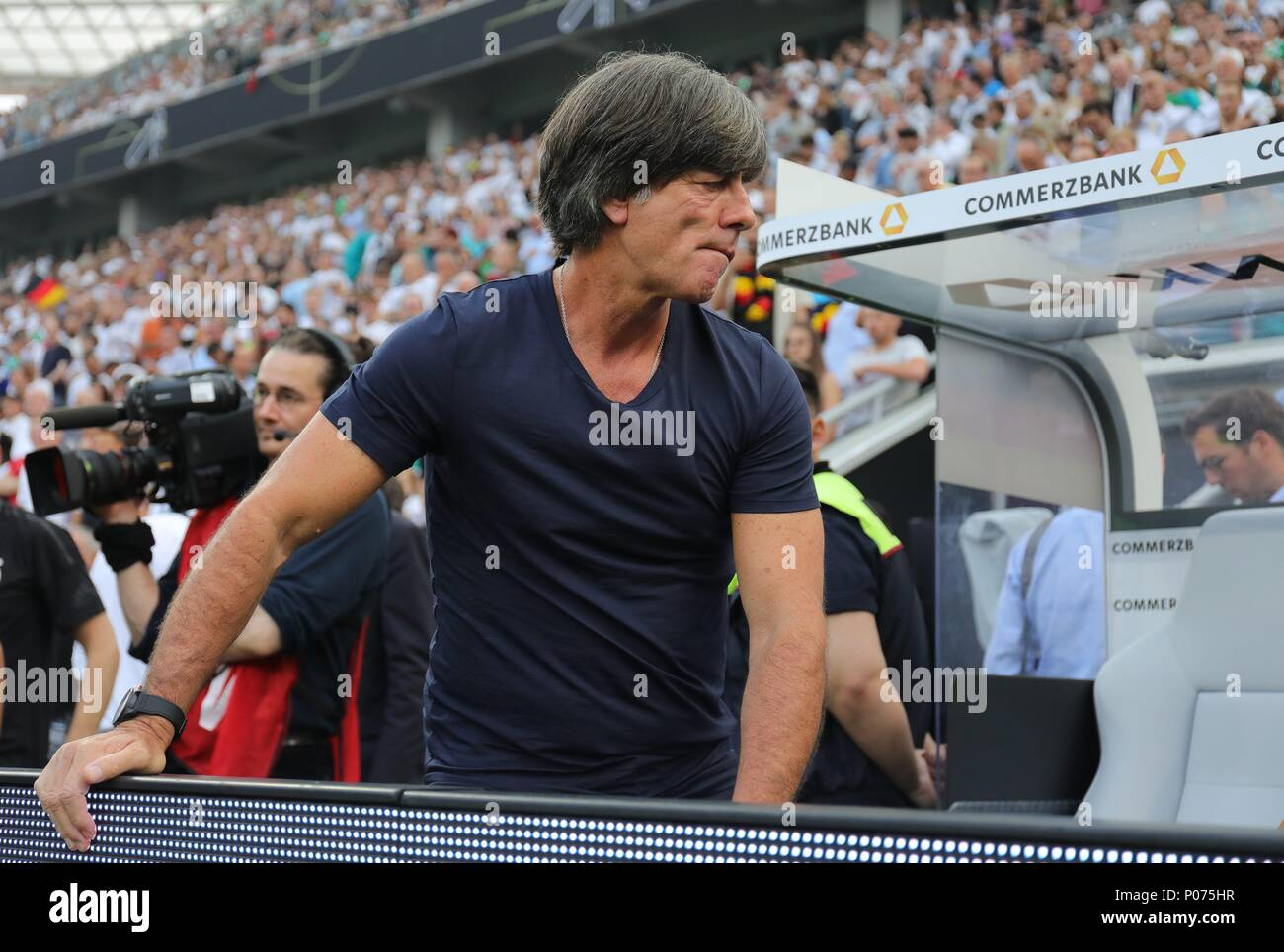 firo Football: Football: 08.06.2018 National team Test match: Germany - Saudi Arabia 2: 1 portrait Bundescoach Joachim Low, Enttausch   usage worldwide - Stock Image