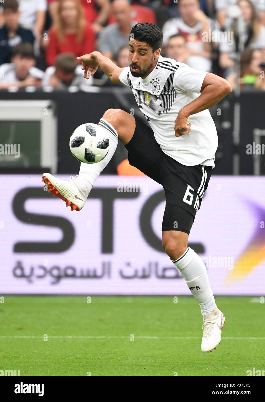 08 June 2018, Germany, Leverkusen: Soccer, international, Germany vs Saudi Arabia at the BayArena. Germany's Sami Khedira. Photo: Ina Fassbender/dpa Stock Photo