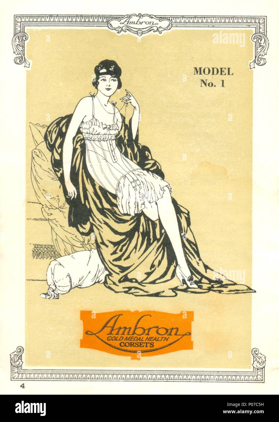 Model No. 1 from Ambron Gold medal Health Corsets - Stock Image