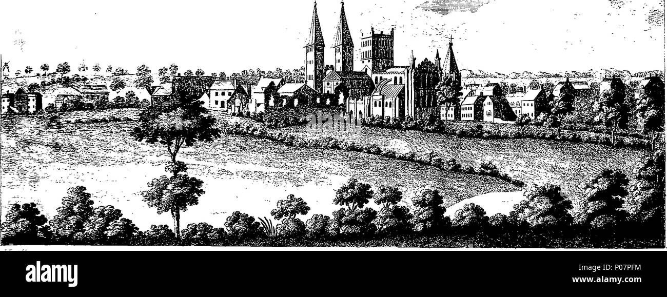 . English: Fleuron from book: A history of the antiquities of the town and church of Southwell, in the county of Nottingham. Dedicated, BY His Grace's Permission, To The Archbishop Of York, By W. Dickinson Rastall, A. M. Fellow Of Jesus College, Cambridge. 113 A history of the antiquities of the town and church of Southwell, in the county of Nottingham Fleuron T139648-1 - Stock Image