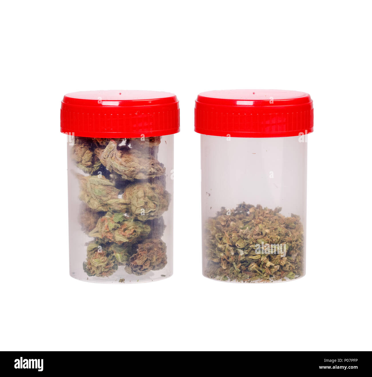 Two types of medical cannabis - Stock Image