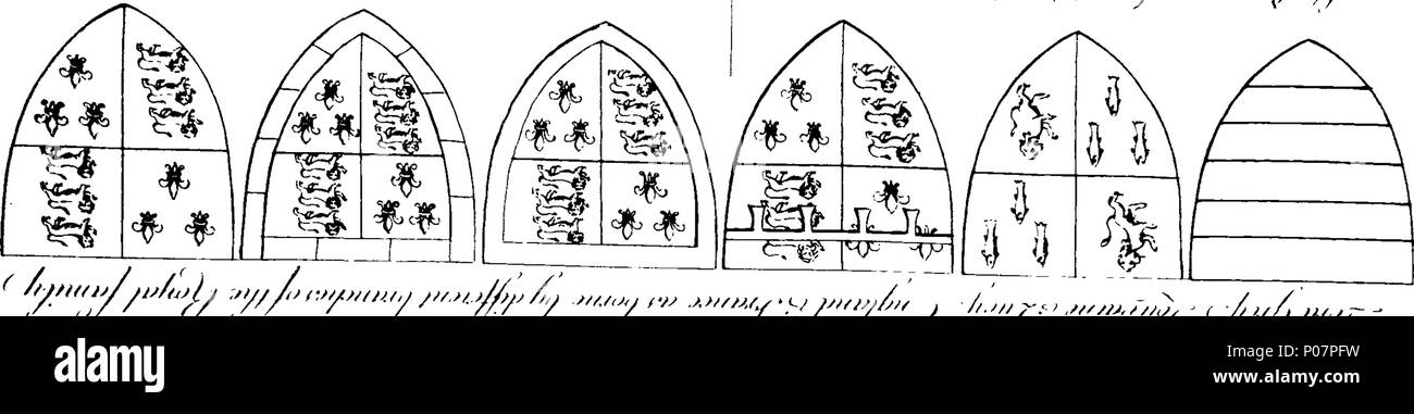 . English: Fleuron from book: A history of the antiquities of the town and church of Southwell, in the county of Nottingham. Dedicated, BY His Grace's Permission, To The Archbishop Of York, By W. Dickinson Rastall, A. M. Fellow Of Jesus College, Cambridge. 113 A history of the antiquities of the town and church of Southwell, in the county of Nottingham Fleuron T139649-38 - Stock Image