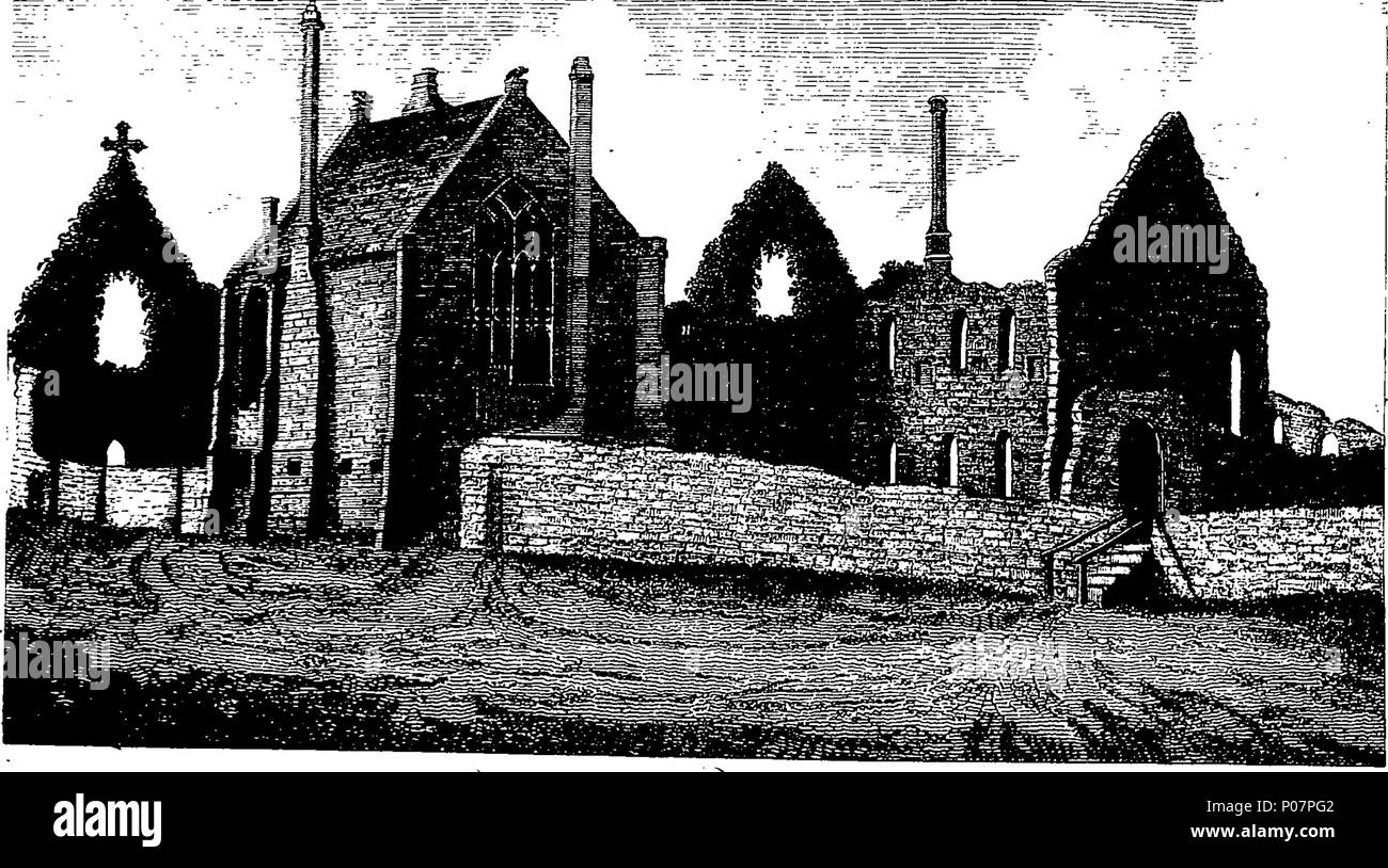 . English: Fleuron from book: A history of the antiquities of the town and church of Southwell, in the county of Nottingham. Dedicated, BY His Grace's Permission, To The Archbishop Of York, By W. Dickinson Rastall, A. M. Fellow Of Jesus College, Cambridge. 113 A history of the antiquities of the town and church of Southwell, in the county of Nottingham Fleuron T139648-24 - Stock Image
