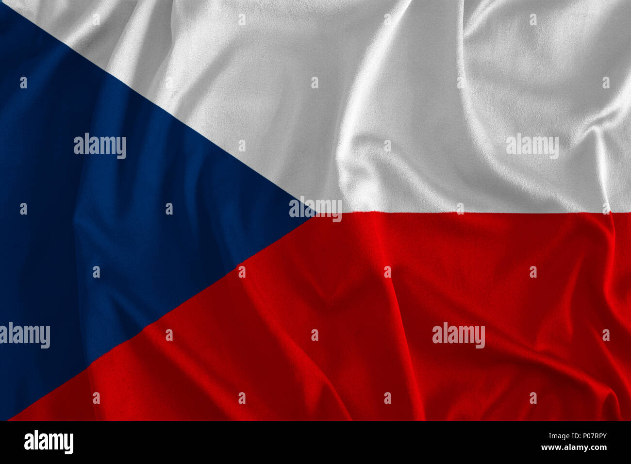 Flag Of The Czech Republic Background