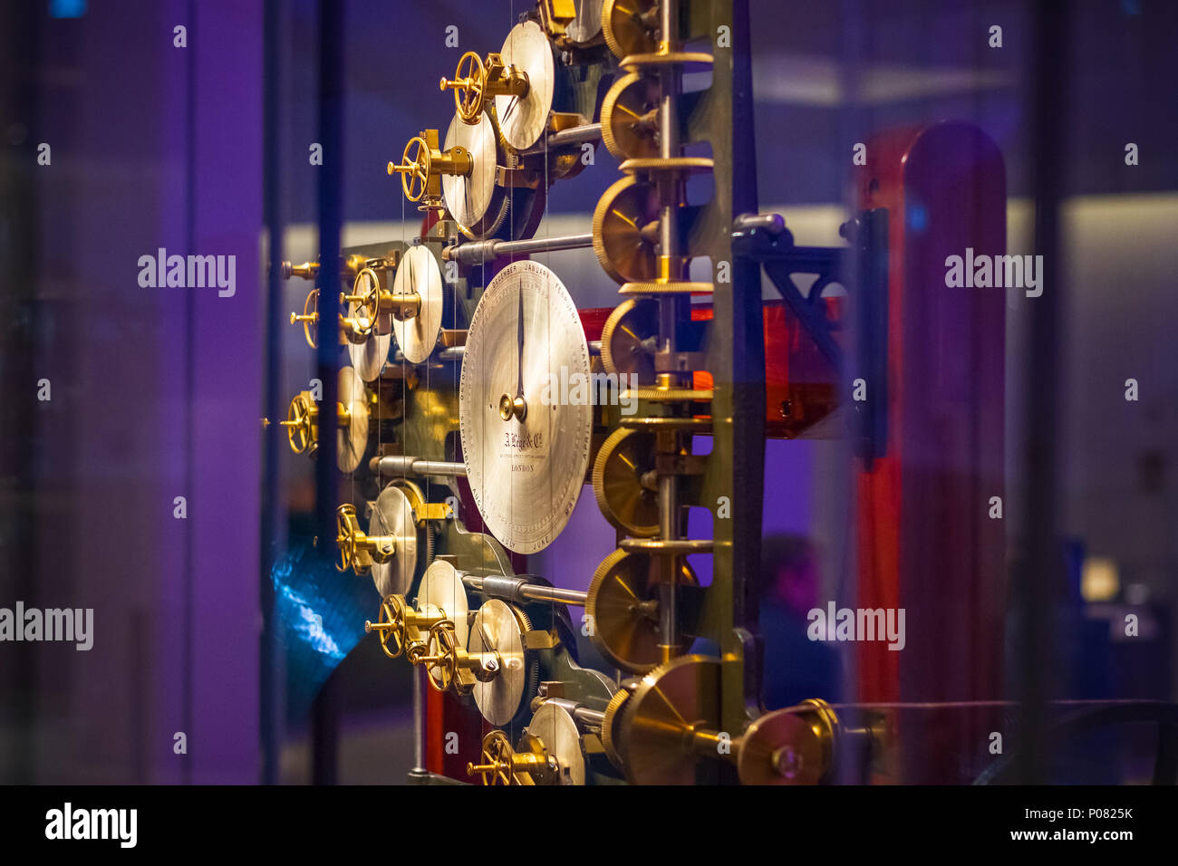 London, UK - January 17, 2018 - First tide-predicting machine on display at Science Museum - Stock Image