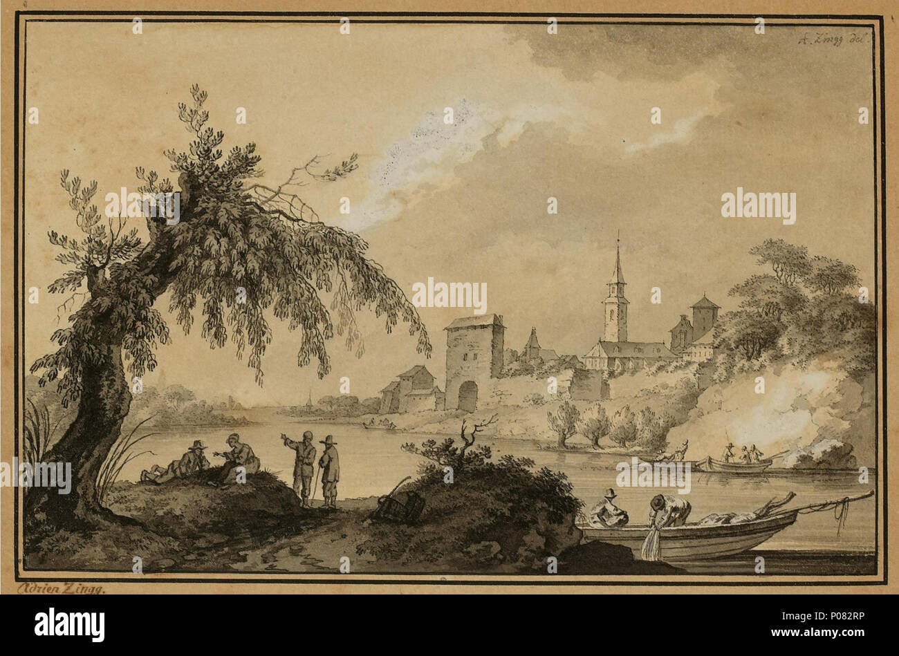 . Swiss Landscape Impression . Unknown date 269 Adrian Zingg - Schweizer Landschaftsimpressionen 02 Stock Photo