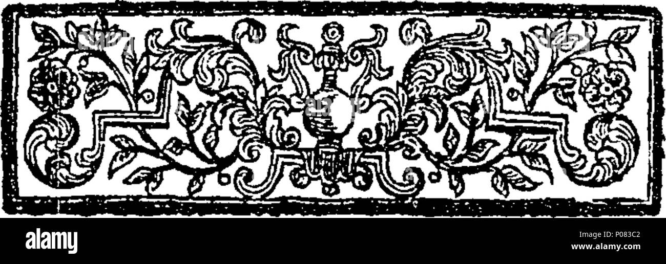 . English: Fleuron from book: A letter in defence of our present liturgy; concerning the authors of the intended alteration. And particularly addressed to the author of The expediency, &c. Accounting for The objected ``difficulty and Unintelligibleness'' thereof, proving it in Themselves; and pointing out a proper way (if a Change must be made) of doing it in a Catholic and Christian Spirit. By a presbyter of the Church of England. 120 A letter in defence of our present liturgy; concerning the authors of the intended alteration Fleuron T115426-2 - Stock Image
