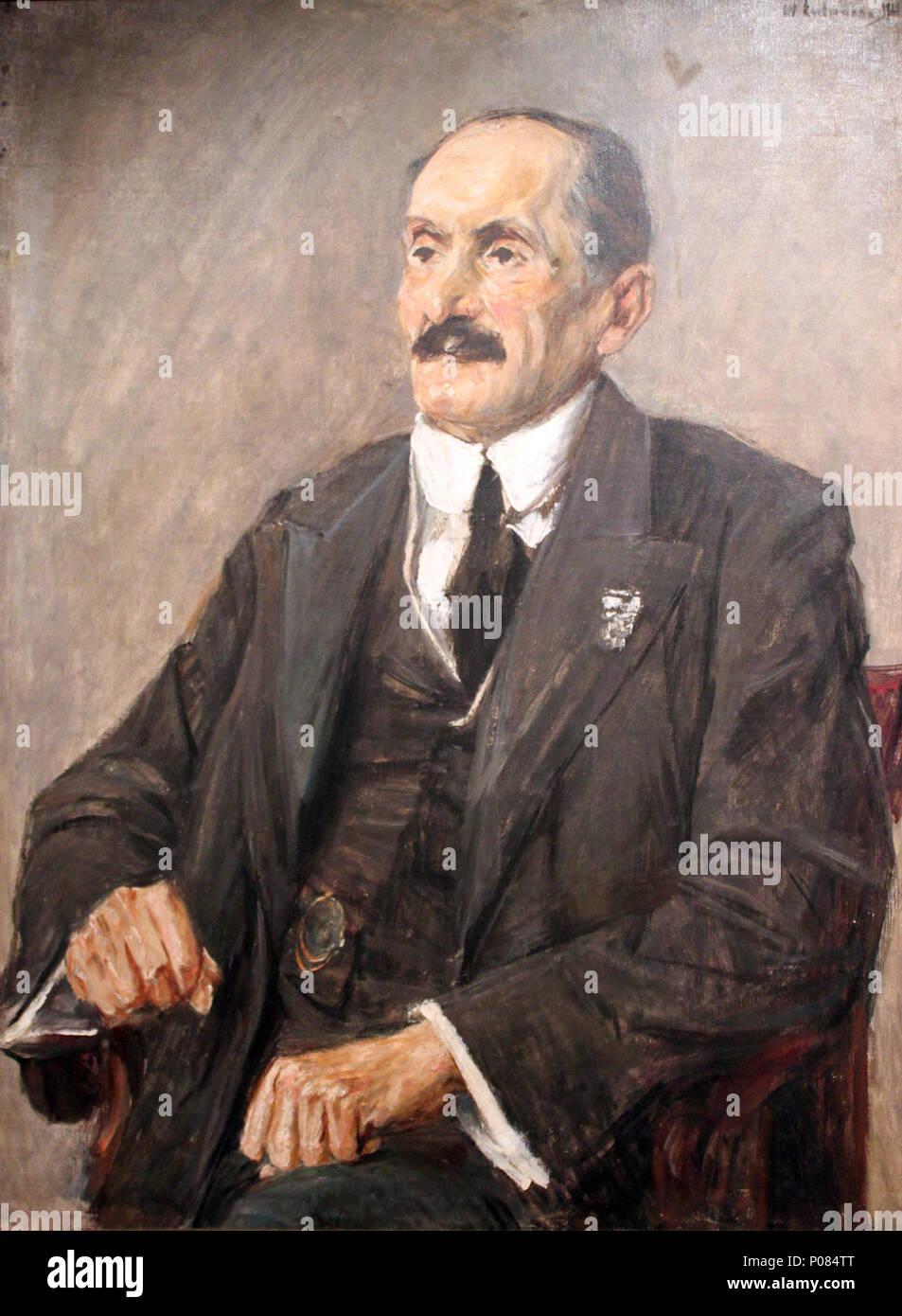 . Portrait of Oscar Cassel (1849-1935), head of the Berlin city assembly  . 1920 4 1920 Liebermann Portrait Oscar Cassel anagoria - Stock Image