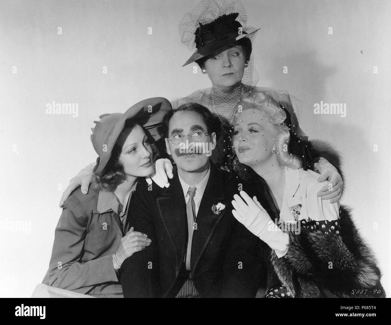 Original Film Title: THE BIG STORE.  English Title: THE BIG STORE.  Film Director: CHARLES REISNER.  Year: 1941.  Stars: GROUCHO MARX; MARGARET DUMONT; VIRGINIA GREY. Credit: M.G.M / Album - Stock Image