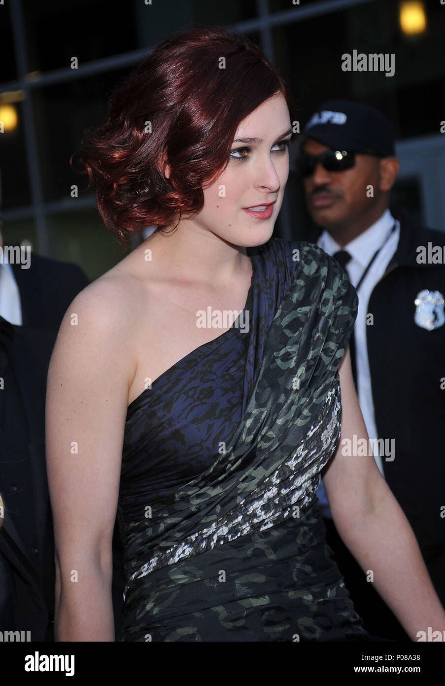 Rumer Willis _34   - The Joneses Premiere at the Arclight Theatre In Los Angeles.Rumer Willis _34 Red Carpet Event, Vertical, USA, Film Industry, Celebrities,  Photography, Bestof, Arts Culture and Entertainment, Topix Celebrities fashion /  Vertical, Best of, Event in Hollywood Life - California,  Red Carpet and backstage, USA, Film Industry, Celebrities,  movie celebrities, TV celebrities, Music celebrities, Photography, Bestof, Arts Culture and Entertainment,  Topix, vertical, one person,, from the year , 2010, inquiry tsuni@Gamma-USA.com - Three Quarters - Stock Image
