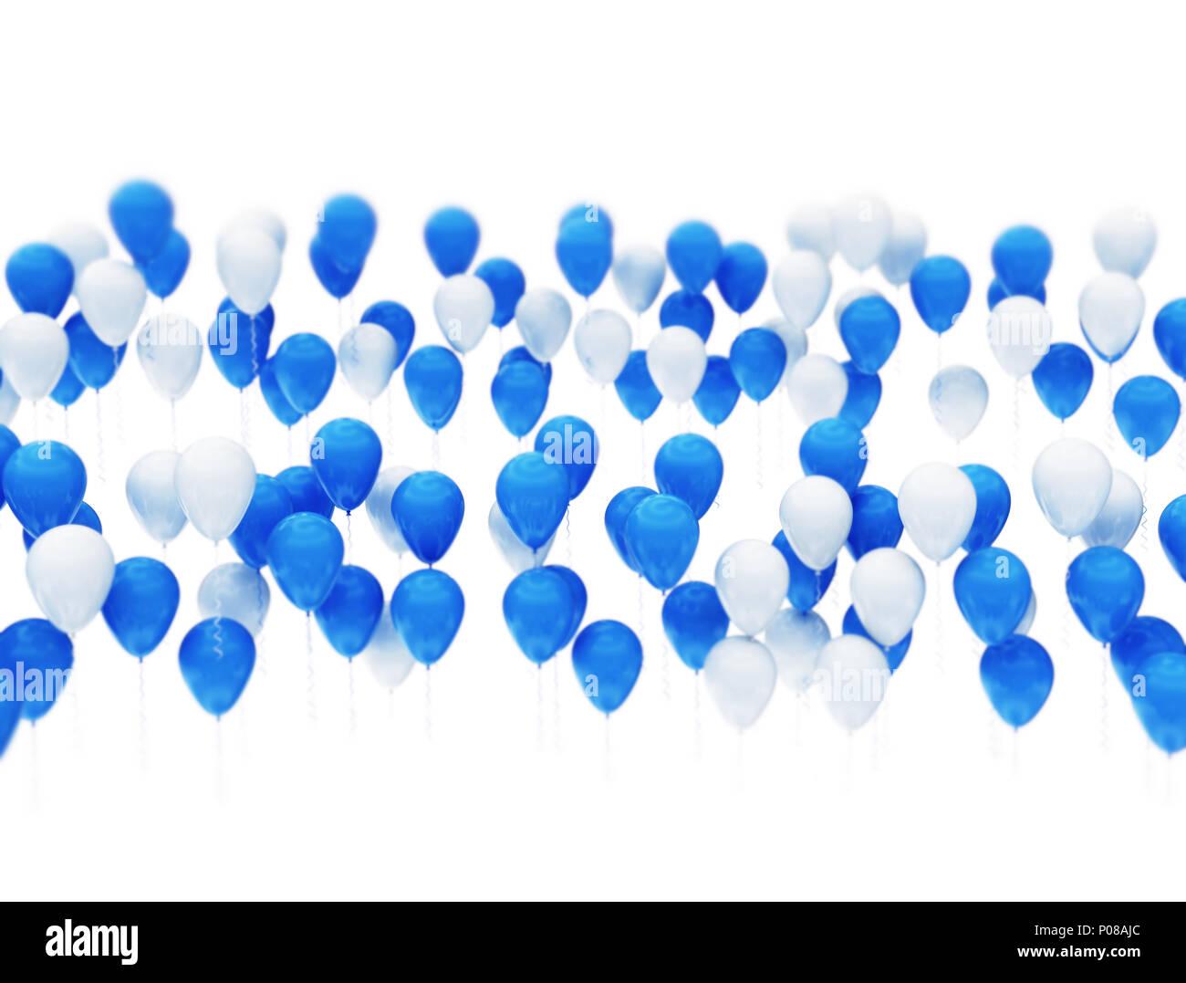Celebrating Air Space Shiny Light Blue Image Stock Photos
