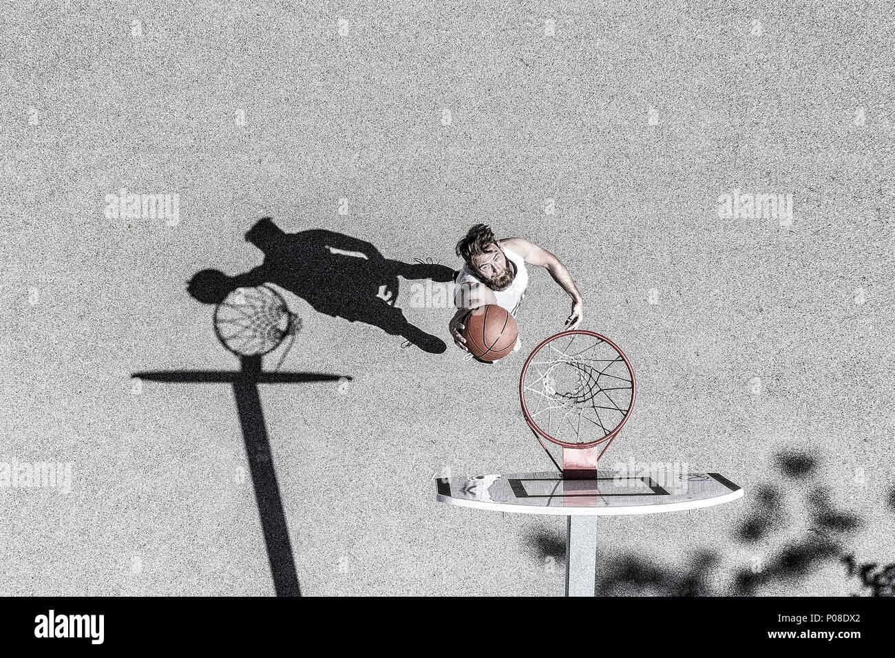 Basketballspieler von oben - Stock Image