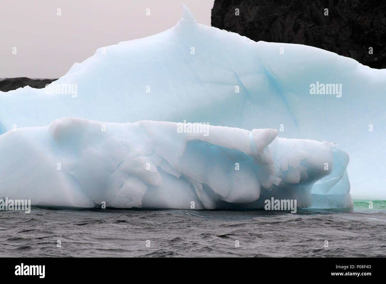 Ice berg  in the Atlantic Ocean off the coast of Newfoundland, Canada - Stock Image