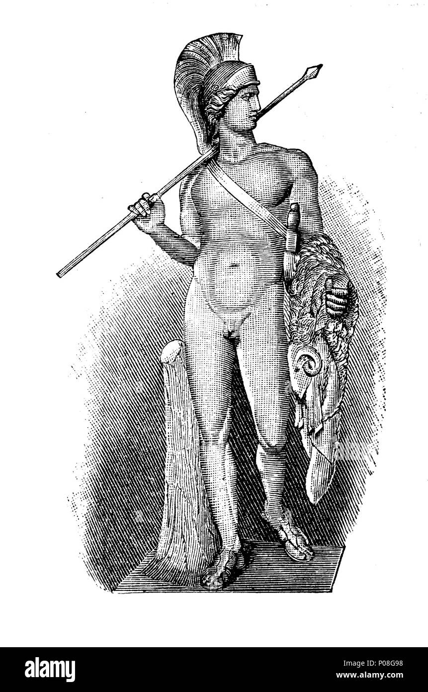Torwaldsen: Jason, an ancient Greek mythological hero., digital improved reproduction of an original print from the year 1881 - Stock Image