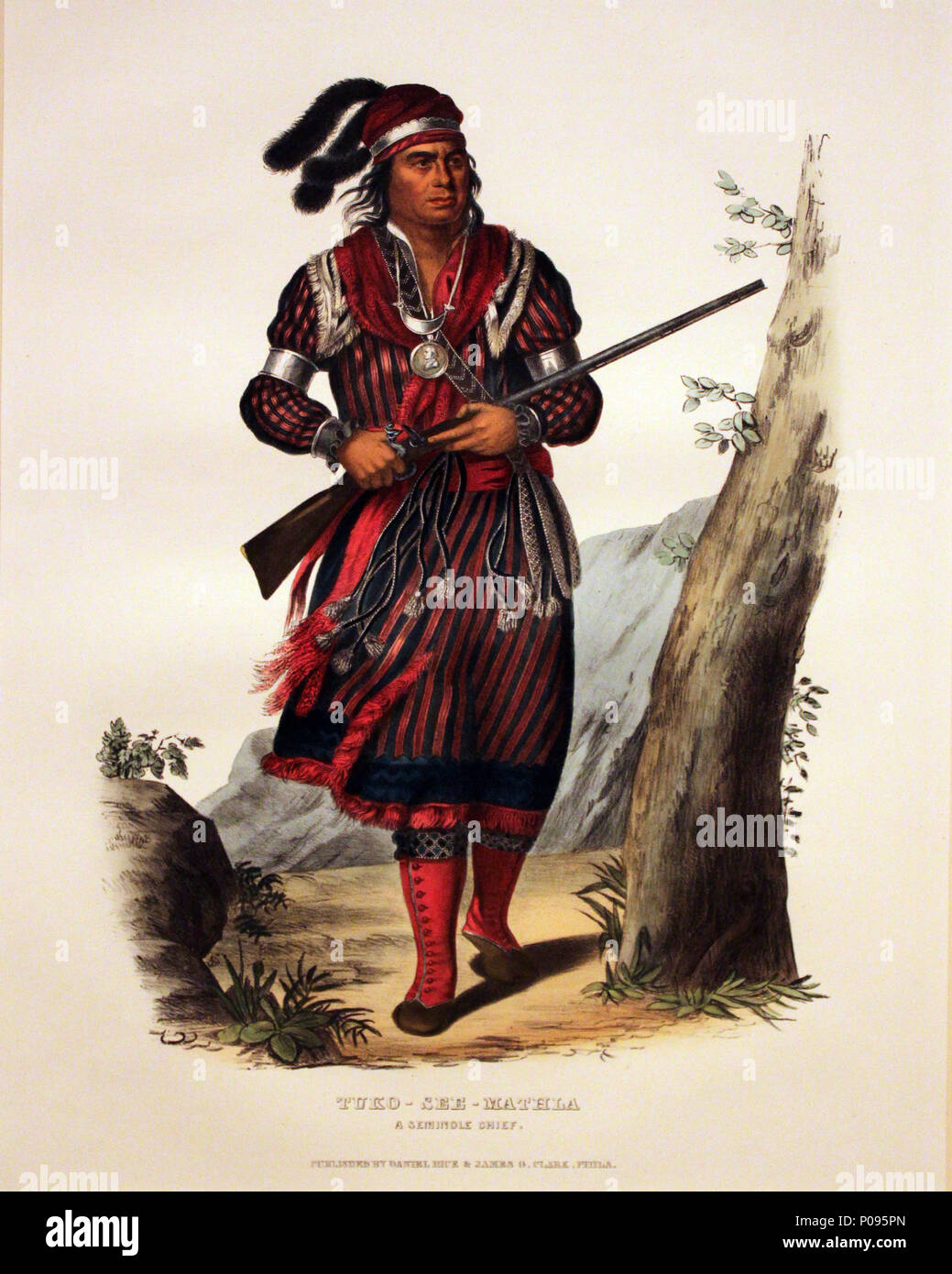 .  English: Seminole Chief Tuko-See-Mathla Deutsch: Seminolen-Häuptling Tuko-See-Mathla . 1833 20 1833 Catlin Tuko-See-Mathla, Seminole Chief anagoria Stock Photo
