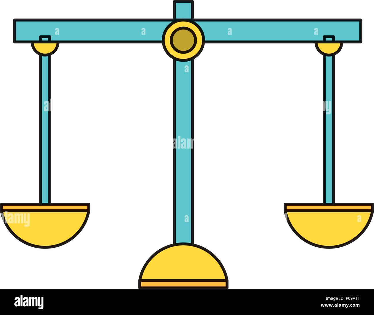 scale icon over white background, vector illustration - Stock Image