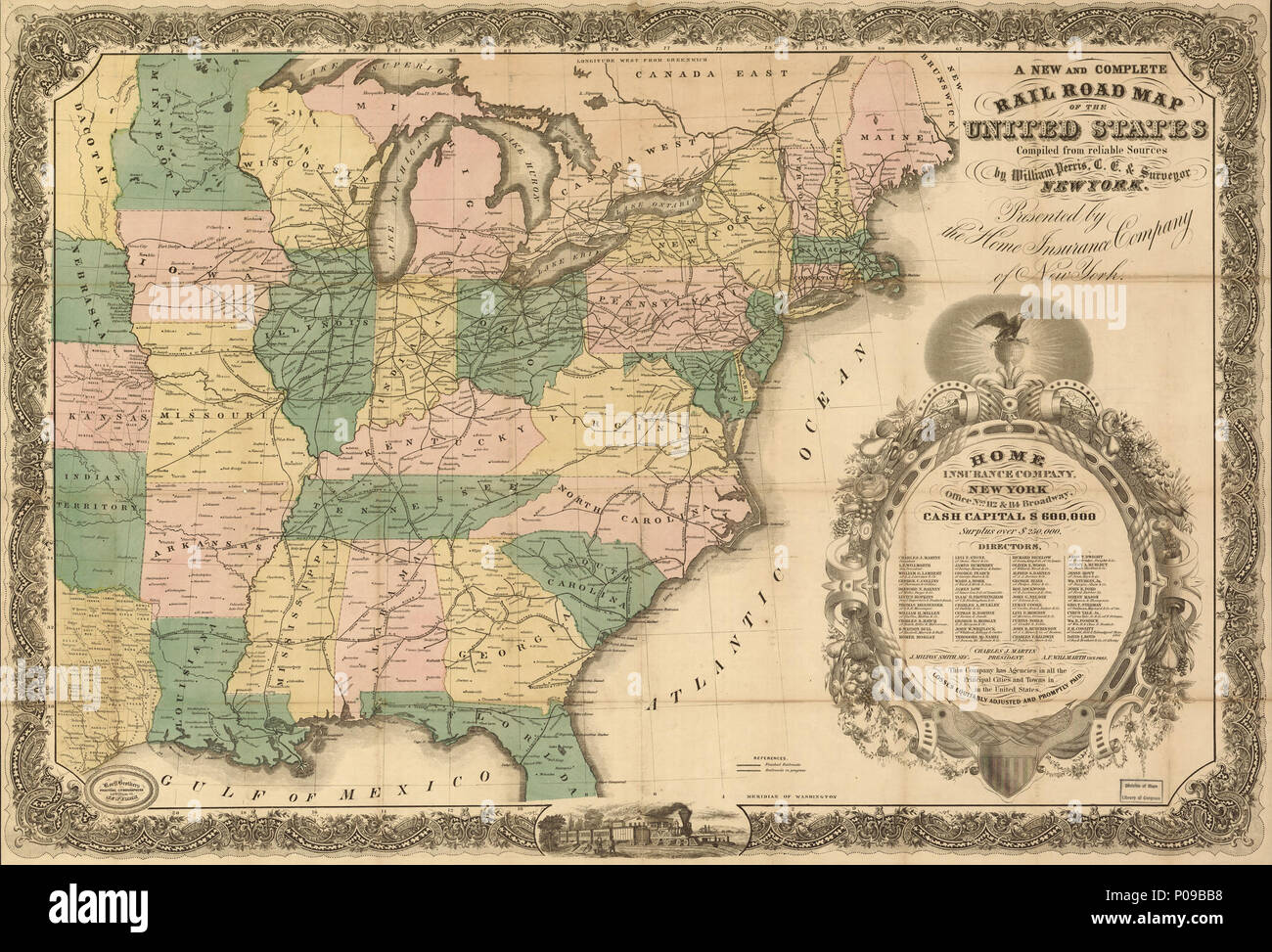 English: Map of the eastern half of the United States ...