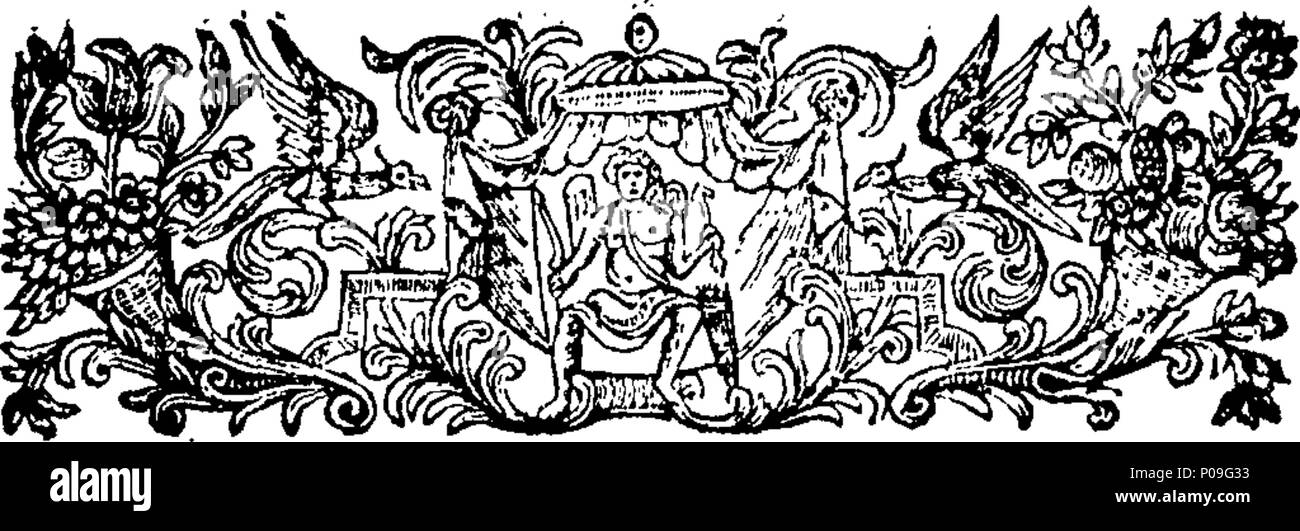 . English: Fleuron from book: A letter address'd to the Right Honourable Brass Crosby, Esq; Lord Mayor of the City of London, respecting the present high price of provisions. In which the Causes of the same are shewn to have been little understood, and consequently the Remedies pointed out in a late Publication, are unequal and incompetent: The true Causes are attempted to be ascertained, and the only probable Means of removing them are clearly set forth and recommended. 118 A letter address'd to the Right Honourable Brass Crosby, Esq; Lord Mayor of the City of London, respecting the present h - Stock Image
