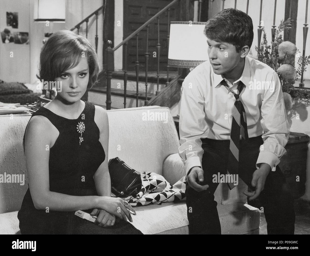 Original Film Title Cuando Tu No Estas English Title Cuando Tu No Estas Film Director Mario Camus Year 1966 Stars Raphael Cantante Maria Jose Alfonso Credit Filmayer Album Stock Photo Alamy
