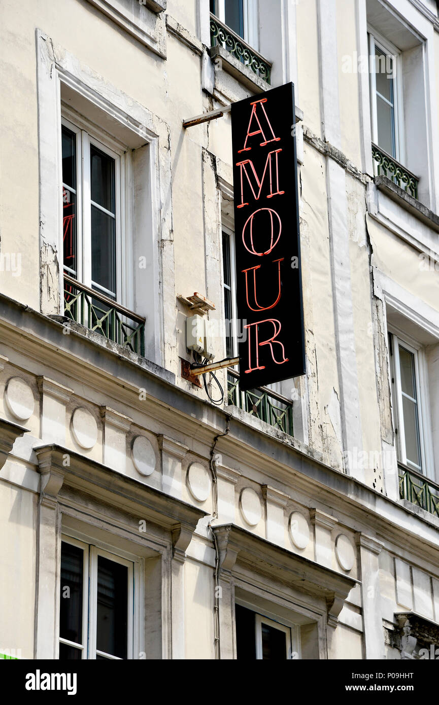 Hotel Amour - Paris 9th - France - Stock Image