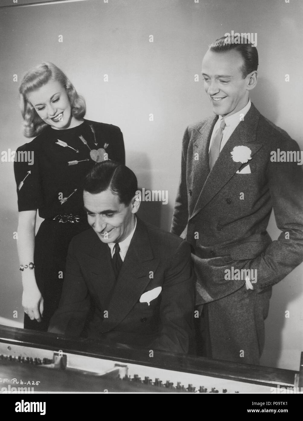 Stars Ginger Rogers Irving Berlin Fred Astaire Stock Photo Alamy