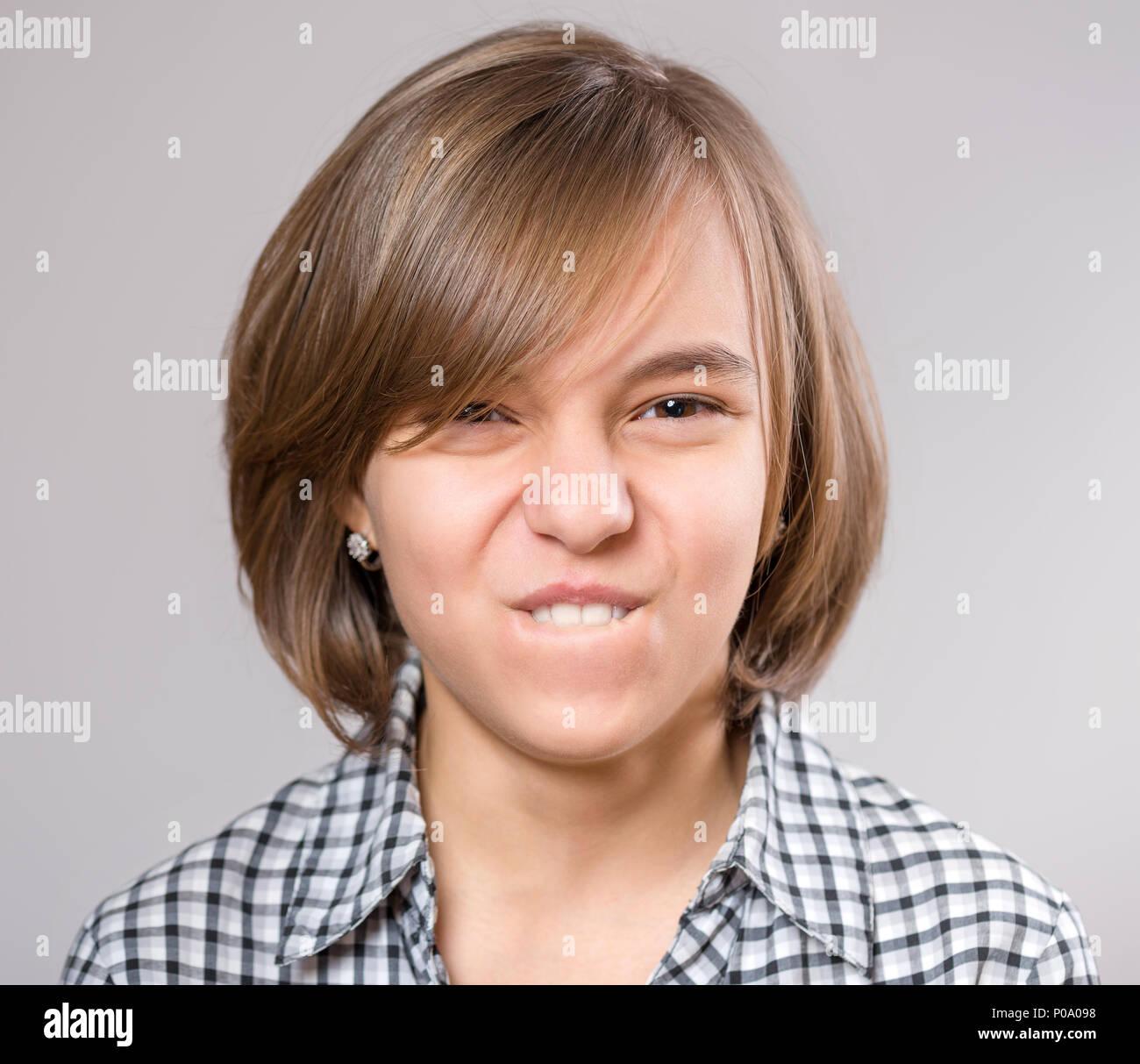 Portrait of little girl - Stock Image