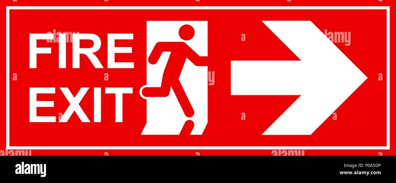 emergency exit sign man running out fire exit stock vector art illustration vector image. Black Bedroom Furniture Sets. Home Design Ideas