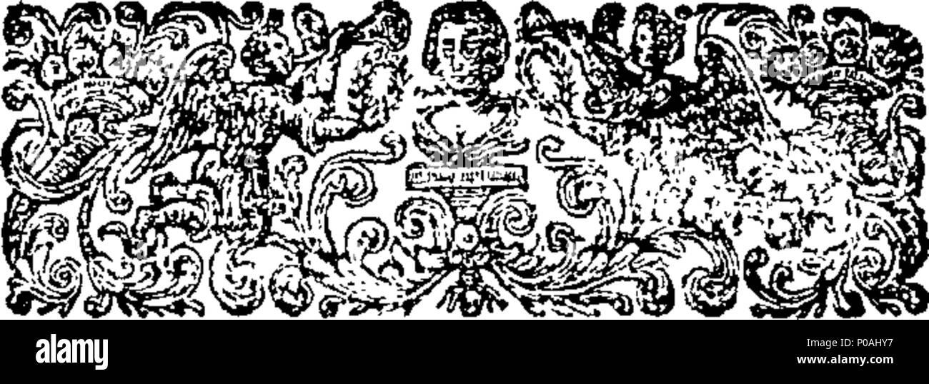 . English: Fleuron from book: An accurate translation of Dr. Mead's Latin treatise on the small-pox and measles. To which is annexed a version of the commentary of Rhazes; a Celebrated Arabian Physician, on the same distempers. 294 An accurate translation of Dr. Mead's Latin treatise on the small-pox and measles Fleuron T132091-2 - Stock Image