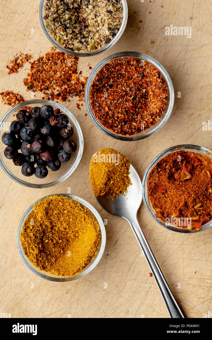 Merken, a traditional Chilean seasoning - Stock Image